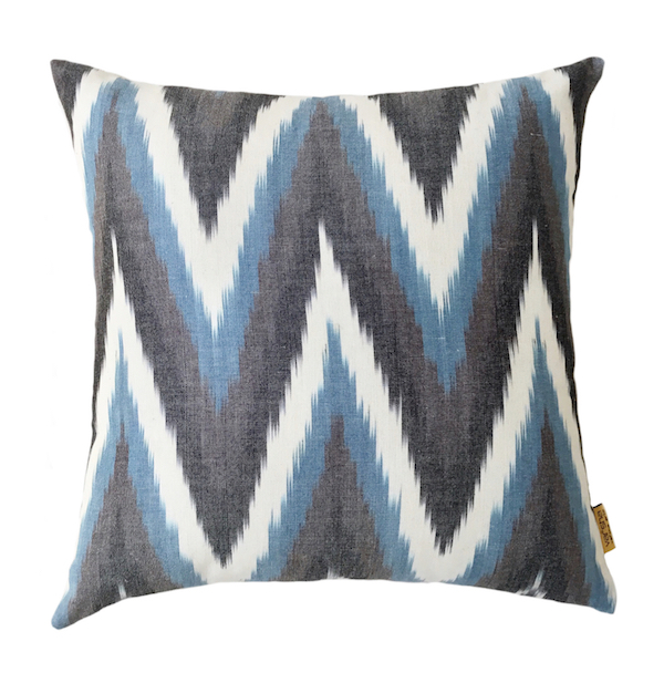 Chevron Ikat Cushion