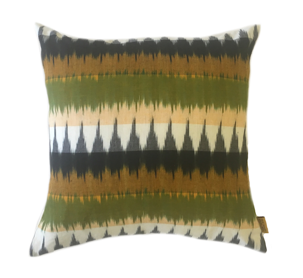 Dual Stripe Ikat Cushion