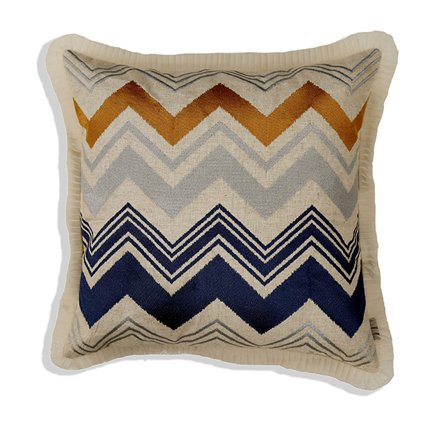 Horizontal Chevron Cushion