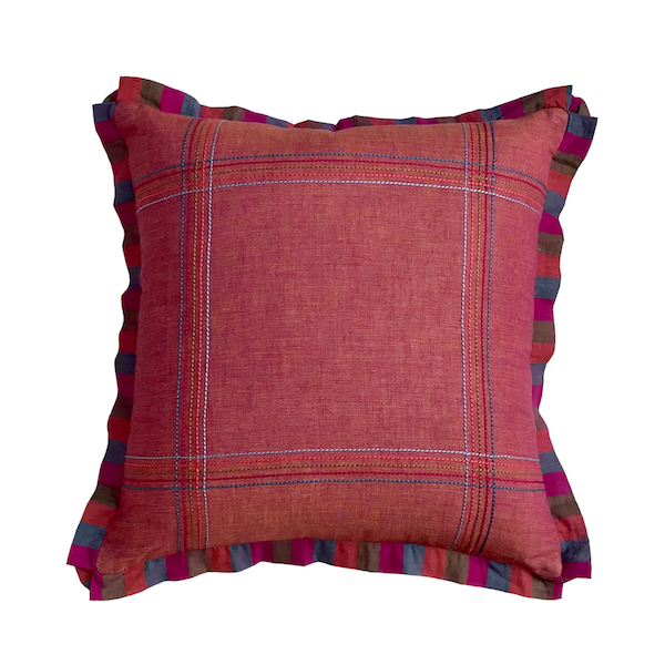 Minas Khadi Tic Tac Cushion