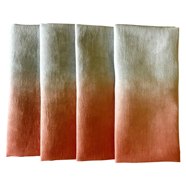 Orange Ombre Napkin - Set Of 2