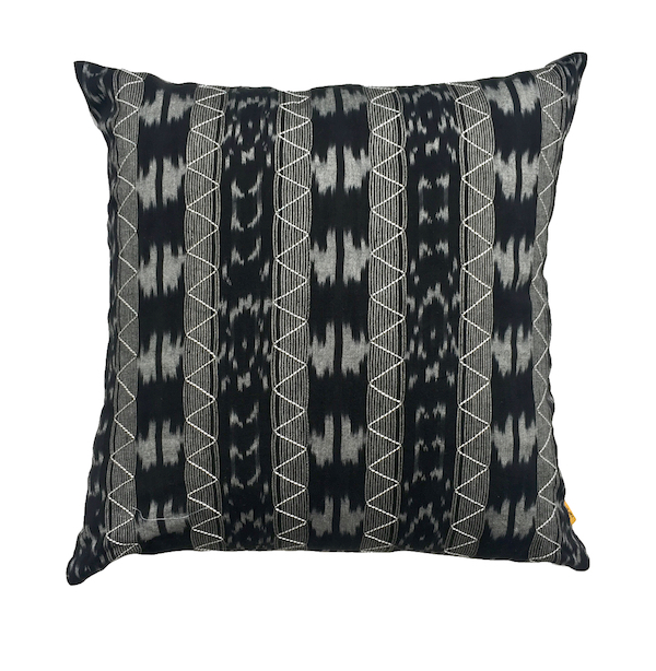 Smoky Ikat Cushion