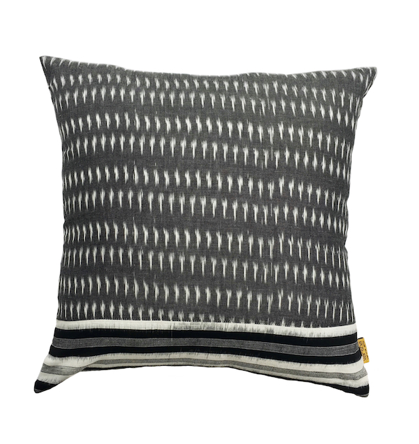 Stroke Ikat Cushion