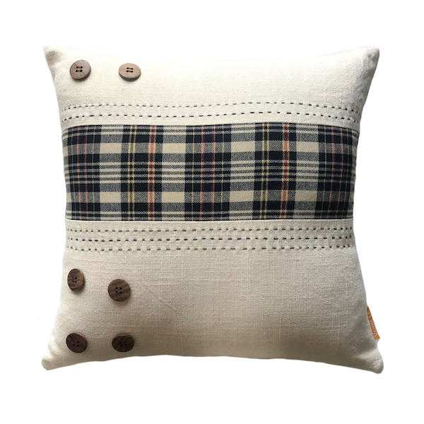Tartan Wide Stripe Cushion