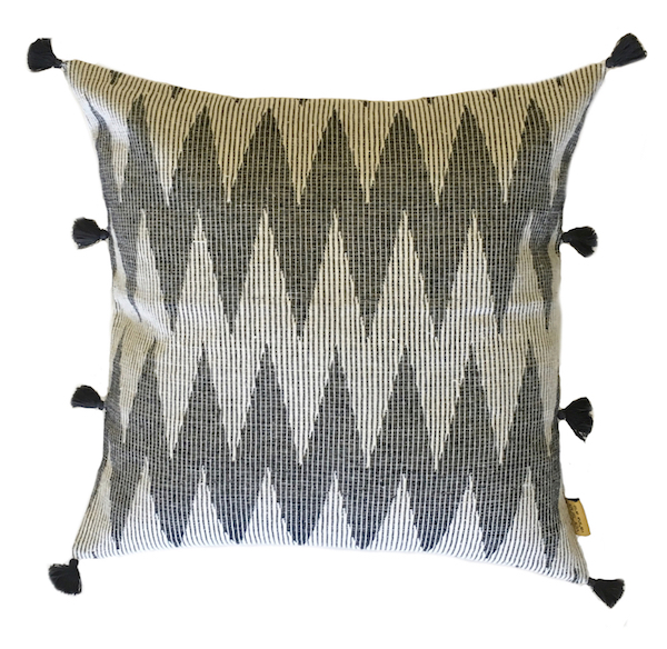 Weave Chevron Ikat Cushion